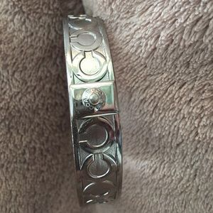 Coach bangle bracelet silvertone. EUC